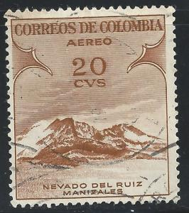Colombia #C243 20c Ruiz Mountain, Manizales