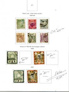 Iran  1885 Lot   use  on page   -   Lakeshore Philatelics