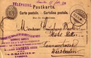 Switzerland, Government Postal Card
