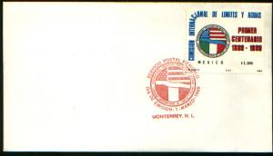 MEXICO 1606 FDC Cent Mex-US Border & Territorial Waters Comm