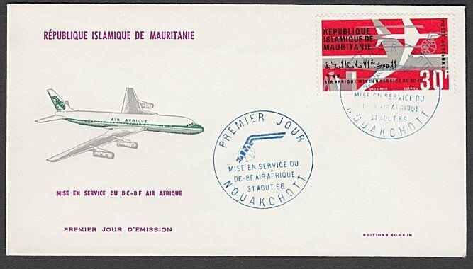MAURITANIA 1966 Air France commem FDC......................................27881