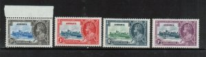Jamaica #109 - #112 Very Fine Never Hinged Set