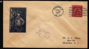 1929 Sullivan Sc 657-8A FDC Waverly NY 1st A. C. Elliott cachet CV $65