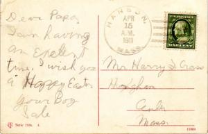 United States Massachusetts Hanson 1911 4a-bar  1821-1936  PC.