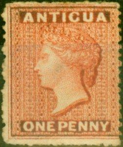 Antigua 1867 1d Vermilion SG7 Fine Unused