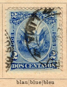 Peru 1895-96 Early Issue Fine Used 2c. NW-11690