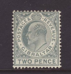 1910 Gibraltar 2d Wmk Mult Crown CA Mounted Mint SG68