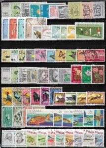 World wide 140 stamps mini collection, mix condition @ 5¢ each SCV $?? - 13022