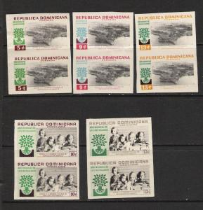 DOMINICAN REP. DOMINICANA 522-4 C113-4 PAIRS L620