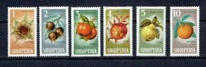 ALBANIA - 1965 FRUITS - SCOTT 787 TO 792 - MNH