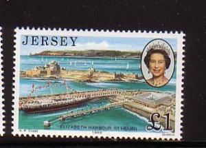 Jersey  Sc 515 1989 £1 Royal visit QE II stamp NH