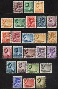 Seychelles 1938 2c-5r COMPLETE SET 25 SG135-149, Scott125-148 VFU Cat £200($270)