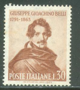 Italy 884, G.J. BELLI. MINT, NH, AGED, FOXING. F-VF. (438)
