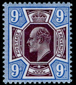 SG307a SPEC M41(5), 9d deep plum & blue, NH MINT. Cat £120.