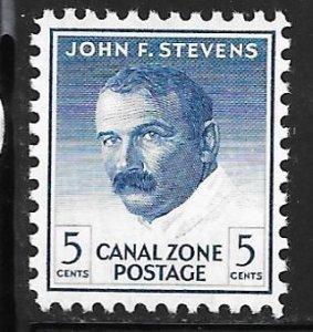Canal Zone 164a: 5c Stevens, single, MNH, F-VF