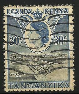 Kenya, Uganda, Tanzania 1954-59 Scott# 108 Used