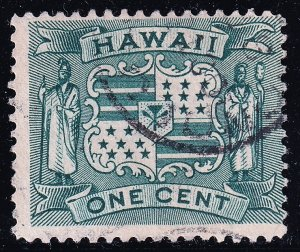 US HAWAII STAMP #80 1899  1C USED STAMP USED STAMP