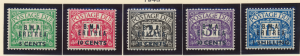 Great Britain Offices In Africa, Eritrea Stamp Scott #J1-5, Mint Lightly Hing...