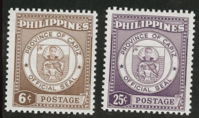Philippines Scott 654-655 MH* 1959 set