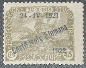 DYNAMITE Stamps: Fiume Scott #165 – MINT hr