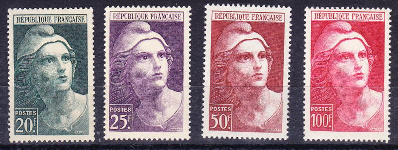 France 1945 MARIANNE complete (4)  VF++/NH(**)   Nr.553-556