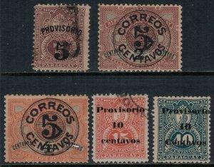 Paraguay #46-50*/u  CV $3.35