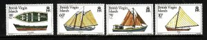 Virgin Is.-Sc#480-3-unused  NH set-Local Boats-Ships-id2-1984-