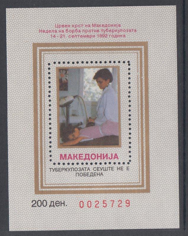 Macedonia RA23 Souvenir Sheet MNH VF