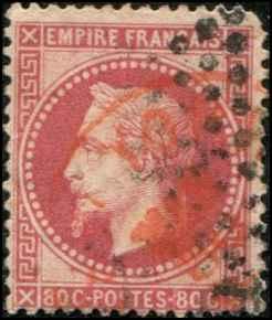 France SC# 36 Emp Napoleon 80c Type II Used SCV $24.00