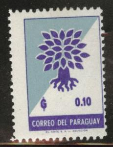 Paraguay Scott 619 MH* 1961 stamp