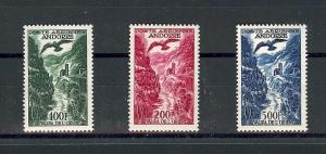 Andorra French C2-4, Valira River Singles **VLH/MNH**