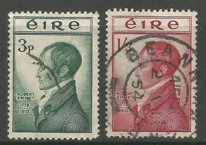 IRELAND 149-150  USED, ROBERT EMMET, IRISH NATIONALIST