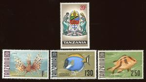 Tanzania Sc # 18, 28, 29 & 31. MNH.  2017 SCV $15.45