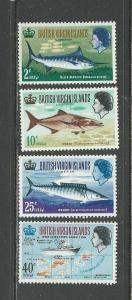 British Virgin Islands # 186-189 Unused HR