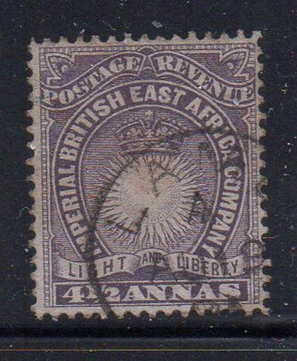British East Africa Sc 20 1890 4 1/2 anna stamp used