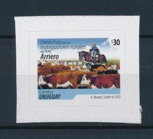 [39702] Uruguay 2013 Animals Cows from set Self Adhesive MNH