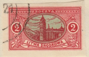 Central Lithuania Mittellitauen Lituanie Lituania 1921 2m Used A8P11F117