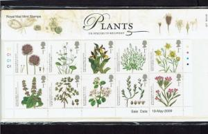 Great Britain: 2009 Action for Species, Plants, Presentation Pack 427