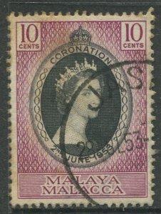 STAMP STATION PERTH Malacca #27 QEII Coronation Used 1953