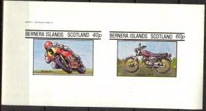 {B185} Bernera Scotland Motorcycles Sh.2 Imperf. MNH Cinderella !!