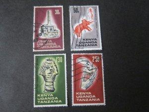 Kenya Uganda Tanganyika 1967 Sc 176-9 set FU