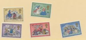 Great Britain Scott #879 To 883, Christmas Issue From 1979 - Free U.S. Shippi...