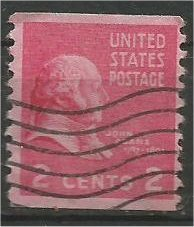 UNITED STATES, 1939, used 2c,Presidential Issue.Coil Scott 841