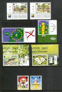 JERSEY Europa (64) All Mint Unused Stamps Most Lightly Hinged