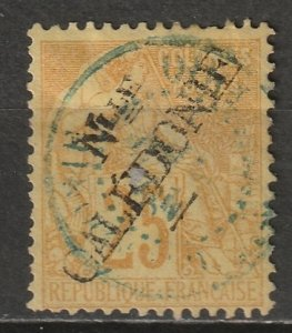 New Caledonia 1892 Sc 27 used blue CDS