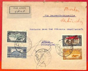 aa0356 - SYRIA - POSTAL HISTORY - AIRMAIL COVER to BERLIN Germany 1933