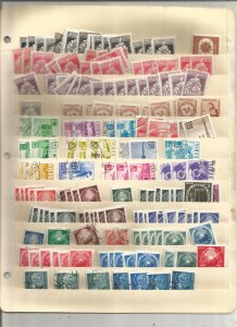 ROMANIA COLLECTION ON STOCK SHEETS, BOTH MINT AN USED