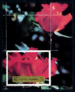 [93530] Fujeira 1972 Flora Flowers Roses Sheet MNH