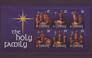 Guernsey Sc 702a 1999 Christmas stamp sheet mint NH