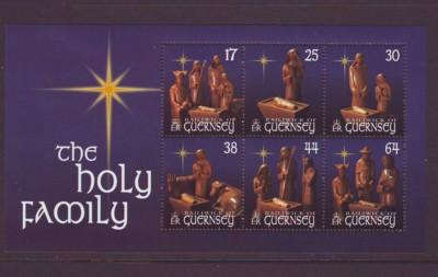 Guernsey Sc 702a 1999 Christmas stamp sheet mint NH
